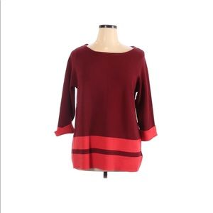 NWT Max Studio burgundy sweater Soft! Size 1X